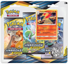 Pokemon Sun & Moon SM10 Unbroken Bonds 3-Booster Blister Pack - Typhlosion Promo