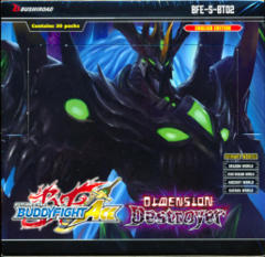 Buddyfight Ace BFE-S-BT02 Dimension Destroyer Booster Box