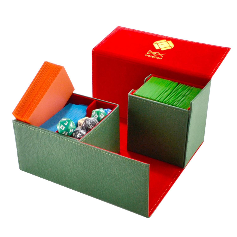 SEER DECK BOX CARD CASE SLEEVE PROTECTOR RED MAGIC POKEMON YUGIOH BOXGODS