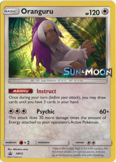 Oranguru SM13 Wave Holo Promo - Sun & Moon Prerelease