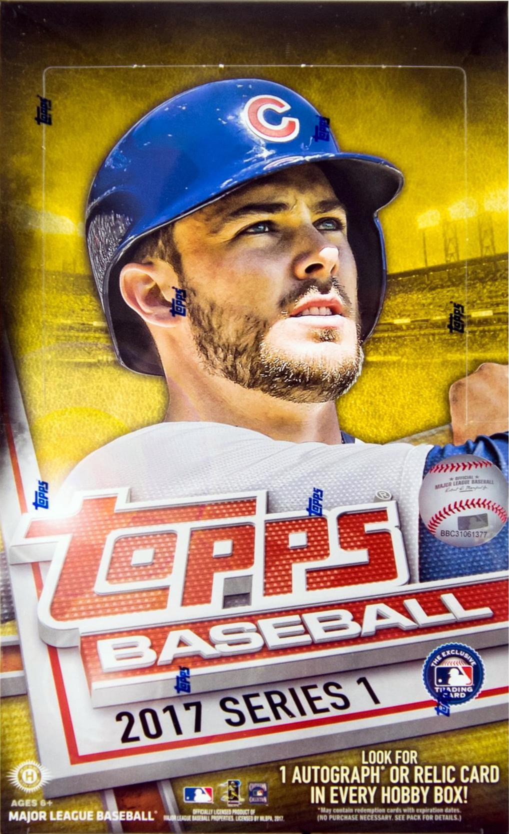 2017 Topps Baseball Series 1 Hobby Box Sports Cards Trading