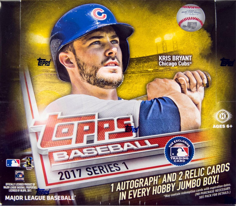 2017 Topps Baseball Series 1 Jumbo Box Sports Cards Trading
