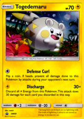 Togedemaru SM09 Cosmos Holo Promo - Sun & Moon Blister Exclusive