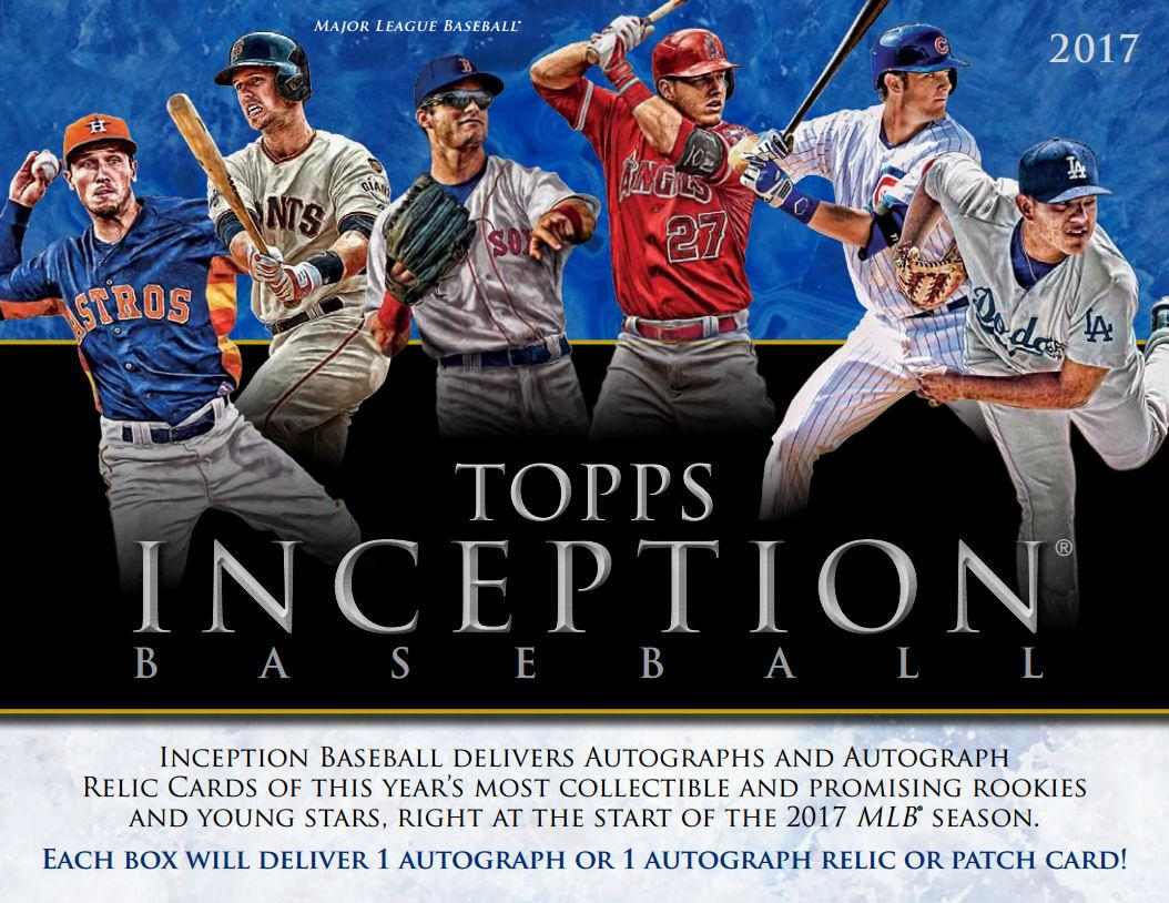 2017 Topps Inception Baseball Hobby Box Sports Cards