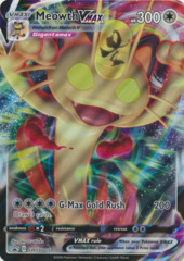 Meowth VMAX SWSH005 JUMBO OVERSIZED Full-Art Holo Promo - Meowth VMAX Special Collection Box