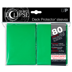 Ultra Pro Standard Size PRO-Matte Eclipse Sleeves - Green - 80ct