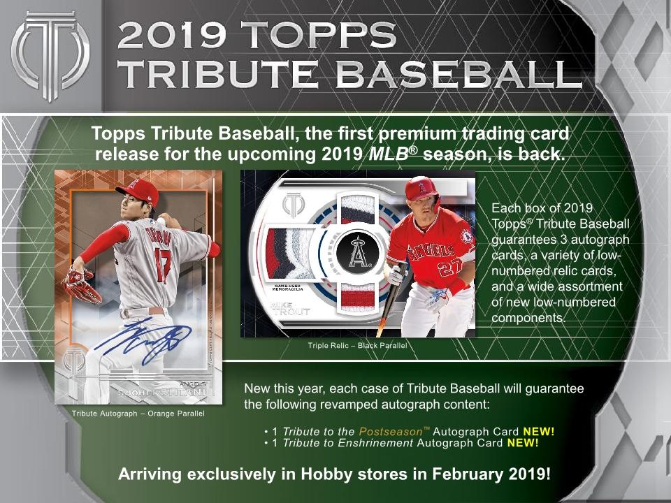 2019 Topps Tribute Mlb Baseball Hobby Box Sports Cards
