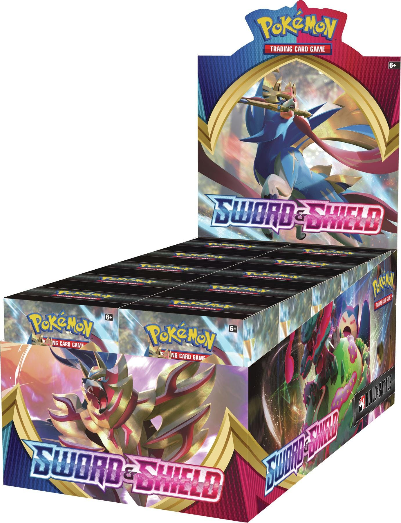 Pokemon Sword & Shield Base Set SWSH1 Prerelease Build & Battle Kit Display Box