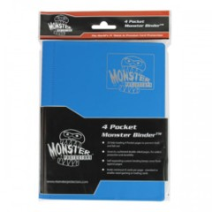 Monster Protectors 4-Pocket Binder - Matte Arctic Blue