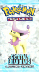 Pokemon EX Crystal Guardians Booster Pack - Delcatty Artwork