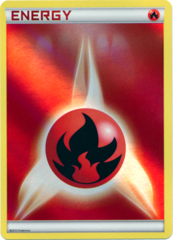 Fire Energy Unnumbered Sheen Holo Promo - 2013