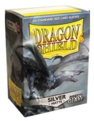 Dragon Shield NON-GLARE Matte Standard-Size Sleeves - Silver - 100ct