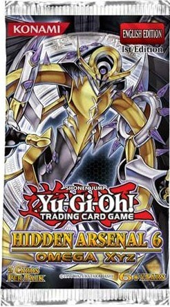 Yu-Gi-Oh Hidden Arsenal #6 Omega XYZ 1st Edition Booster Pack