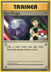 Gym Badge (Brock) Sheen Holo Promo XY203 - 2017 Pokemon League Exclusive
