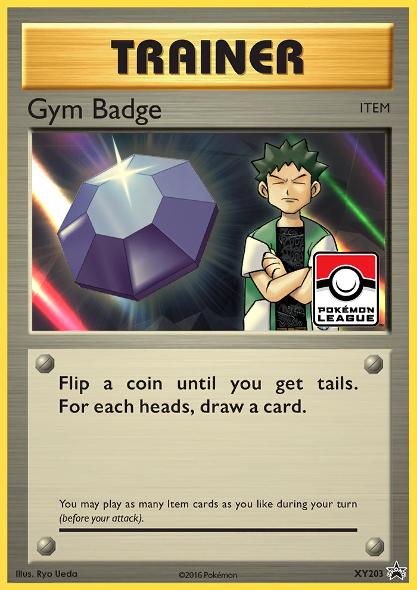 Gym Badge (Brock) Sheen Holo Promo XY203 - 2017 Pokemon League Exclusive