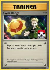 Gym Badge (Surge) Sheen Holo Promo XY205 - 2017 Pokemon League Exclusive