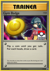 Gym Badge (Sabrina) Sheen Holo Promo XY208 - 2017 Pokemon League Exclusive