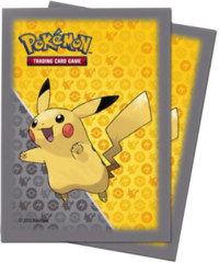 Ultra Pro Standard Size Pokemon Sleeves - Pikachu Gray - 65ct