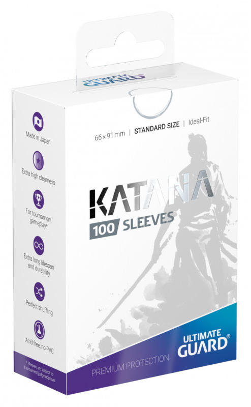 Ultimate Guard Standard Size Katana Sleeves - White - 100ct