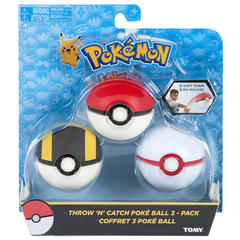 Pokemon Throw 'N' Catch Poke Ball 3-Pack