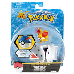 Pokemon Fennekin Throw N Pop Action Figure Set