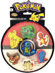 Pokemon 7-Piece Eraser Set