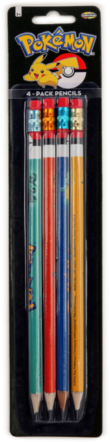Pokemon 4-Pack Pencil Set