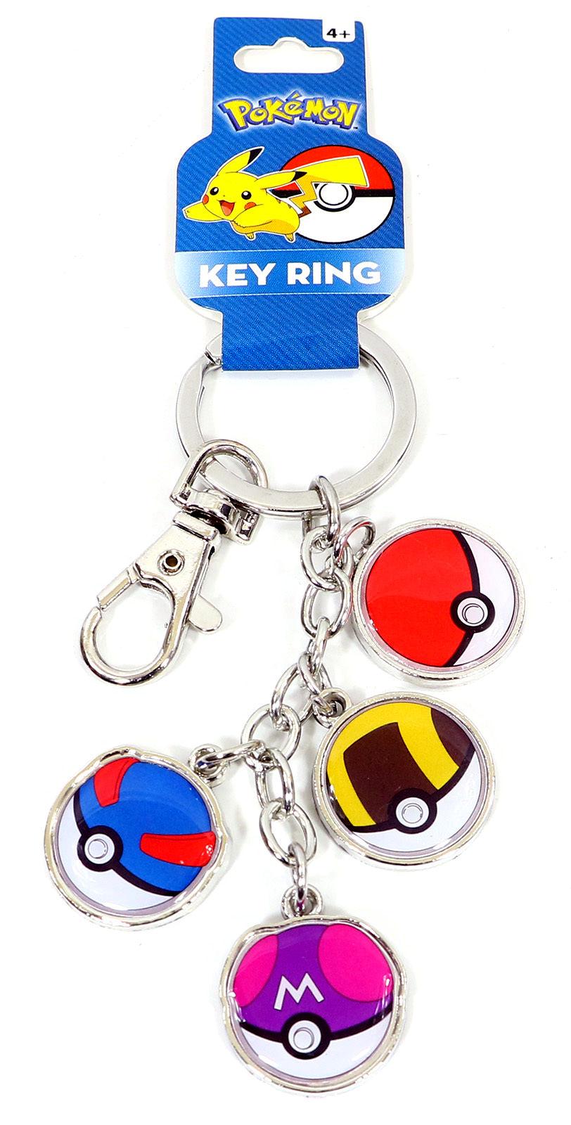 Pokemon Pokeballs Metal Keychain Pokemon Card Singles Pokemon