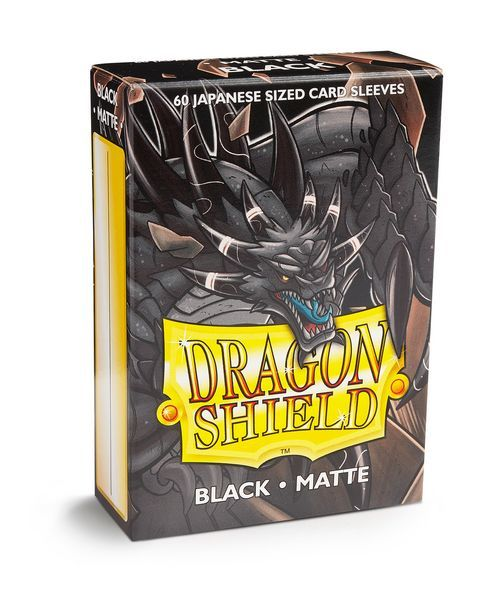 Dragon Shield Matte Japanese Mini-Size Sleeves - Black - 60ct