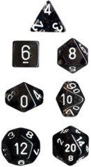 Chessex Dice CHX 23078 Translucent Polyhedral Smoke w/ White Set of 7