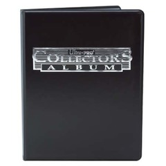 4-Pocket Black Collectors Card Album