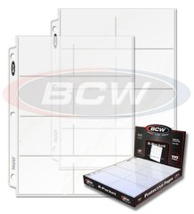 8-Pocket  Extra Tall Card Sheets Box of 100