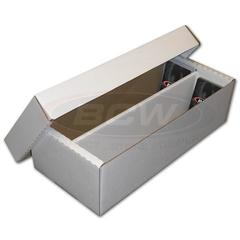 Cardboard Box 1600 card with Lid (2-Row Shoebox)