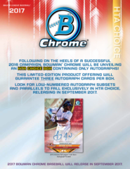 2017 Bowman Chrome MLB HTA Box