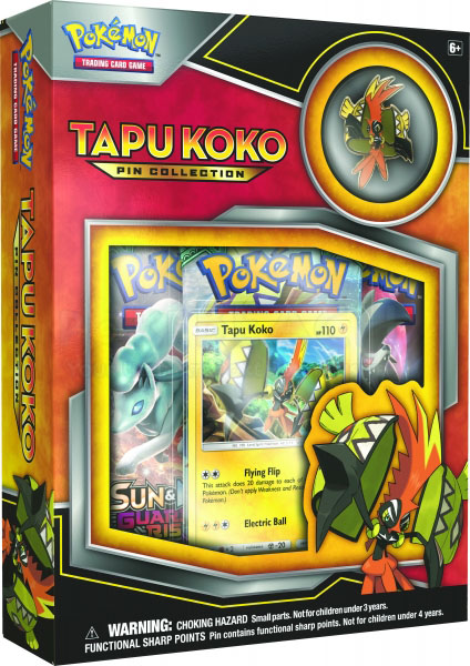 Pokemon Tapu Koko Pin Collection Box - US Version