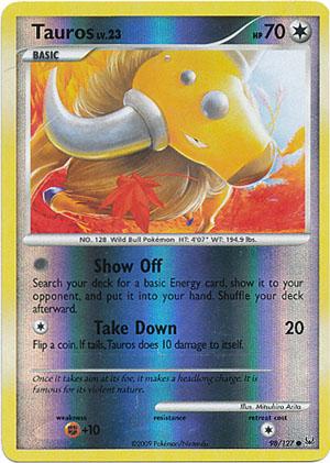 Pokemon Platin 98//127 Tauros Deutsch