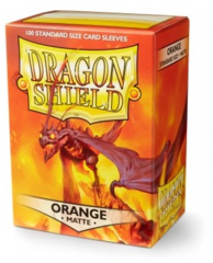 Dragon Shield Matte Standard-Size Sleeves - Orange - 100ct