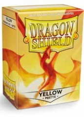 Dragon Shield Matte Standard-Size Sleeves - Yellow - 100ct