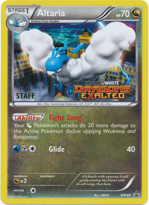 Altaria BW48 Tinsel Holo STAFF Promo - Dragons Exalted Prerelease