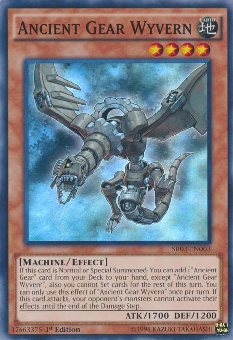 3 X YU-GI-OH CARD ANCIENT GEAR GOLEM SR03-EN005-1ST EDITION