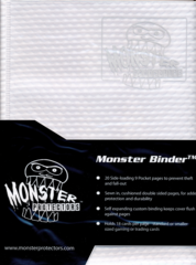 Monster Protectors 9-Pocket Binder - Holo White w/ White Pages