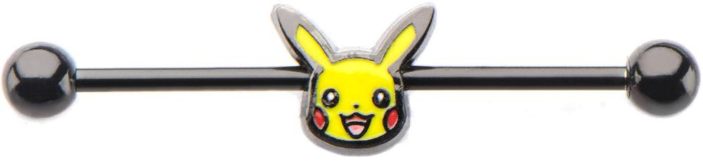 Pikachu 14-Gauge 1 3/8 Industrial Barbell