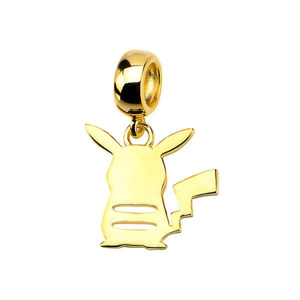 Pikachu Silhouette 10K Yellow Gold-Plated Sterling Silver Pendant