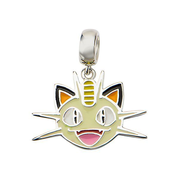 Meowth Head Sterling Silver Dangle Charm