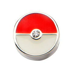 Pokeball Sterling Silver Bead Charm