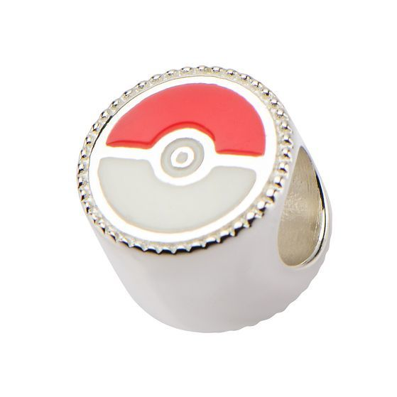 Jigglypuff & Pokeball Sterling Silver Bead Charm