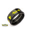 Pikachu Black Ion-Plated Stainless Steel Spinner Ring - Size 8