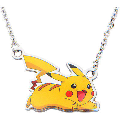 Pikachu Stainless Steel Pendant 16 Chain Necklace
