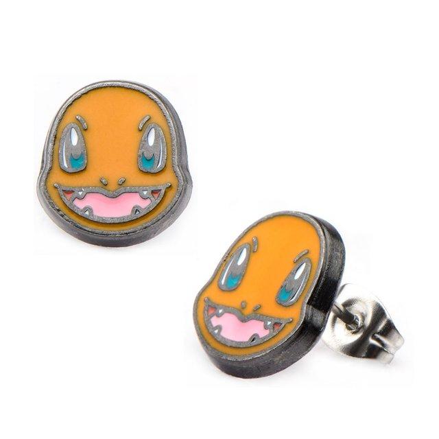 Charmander Head Stainless Steel Stud Earrings