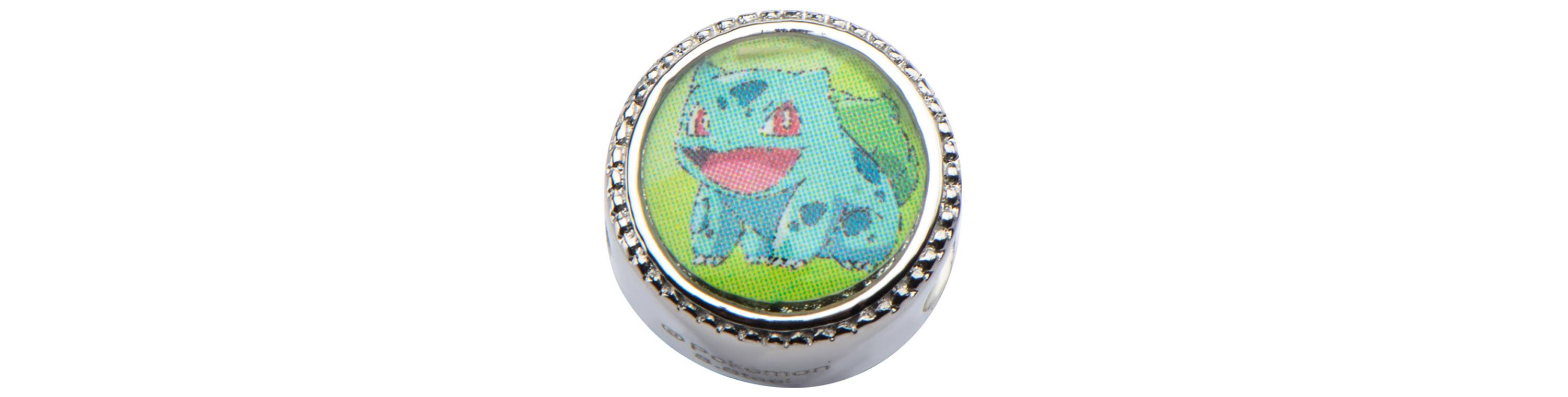 Bulbasaur & Leaf Stainless Steel Bead Charm